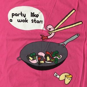 """Party Like a Wok Star"" T-Shirt, Pink"